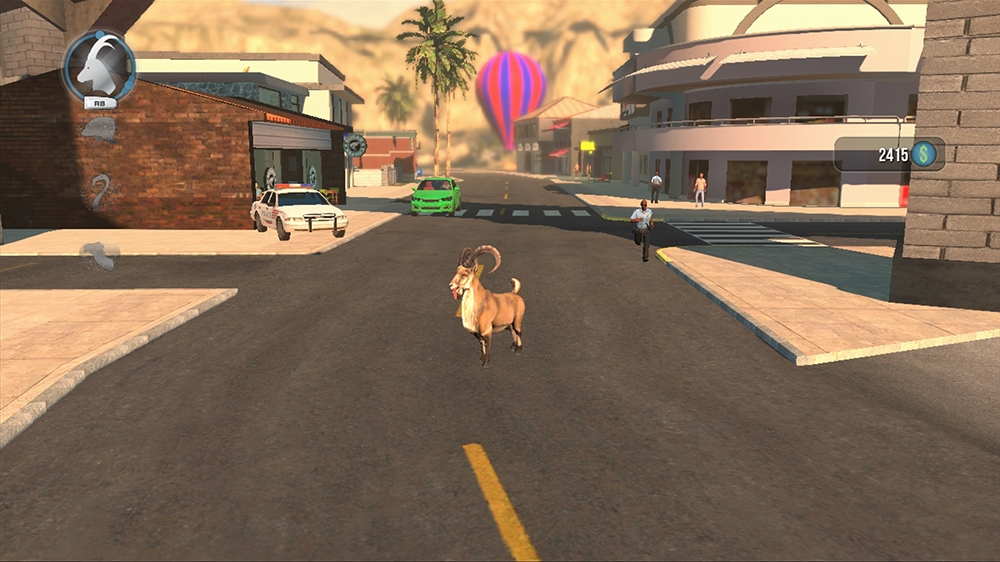 Image from Goat Simulator: PAYDAY