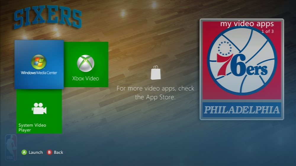 Kuva pelistä NBA: 76ers Center Court