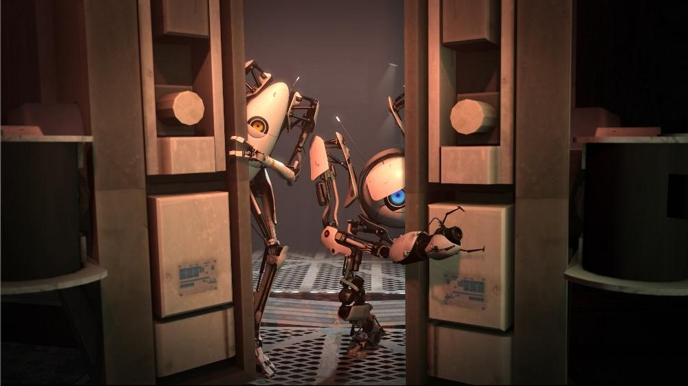 Image from Portal 2: Peer Review downloadable content