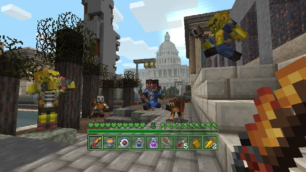 Image from Minecraft Fallout Mash-up
