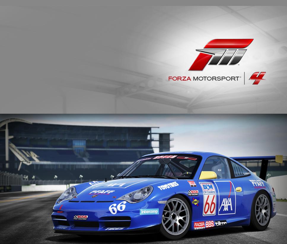 #66 AXA Racing 911 GT3 Cup (996)