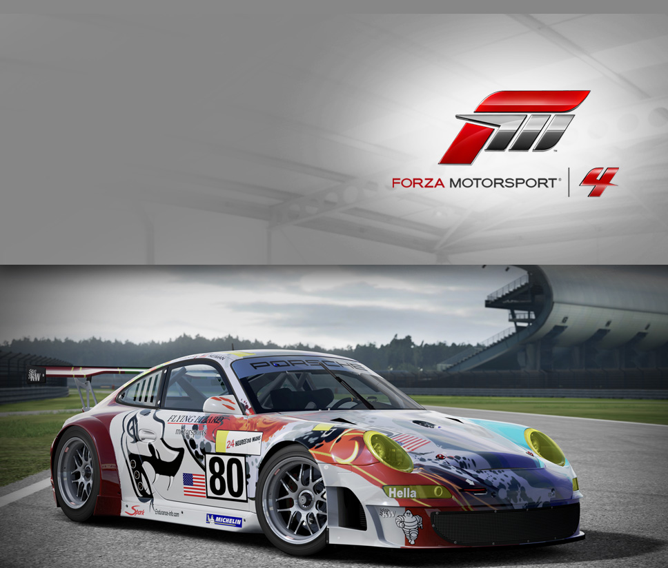 #80 Flying Lizard 911 GT3-RSR