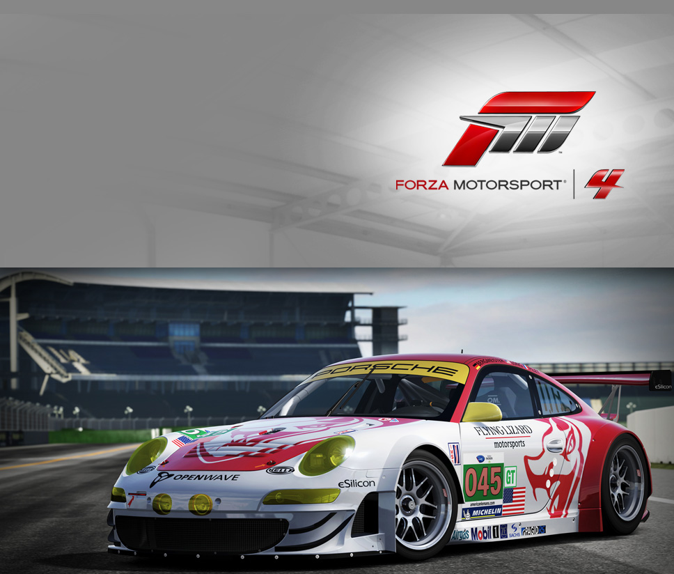 #45 Flying Lizard 911 GT3-RSR