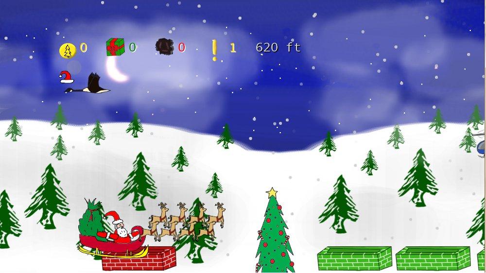 Santa Sleigh Sling Screenshot