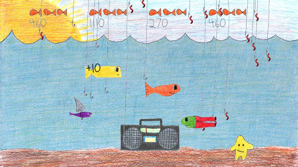 Image from Fish Listening to Radio
