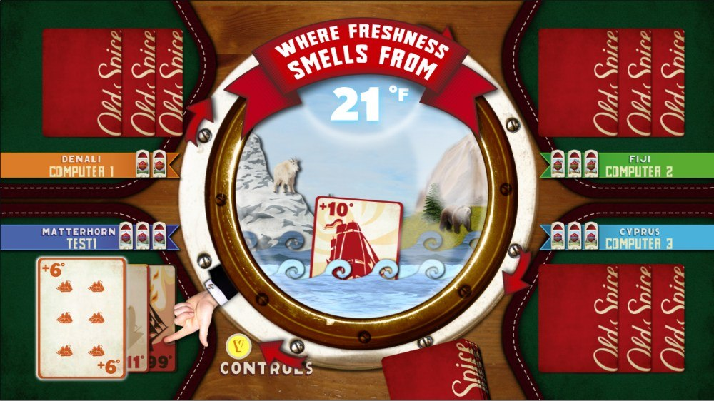 Image from Old Spice: Fresh Card Game
