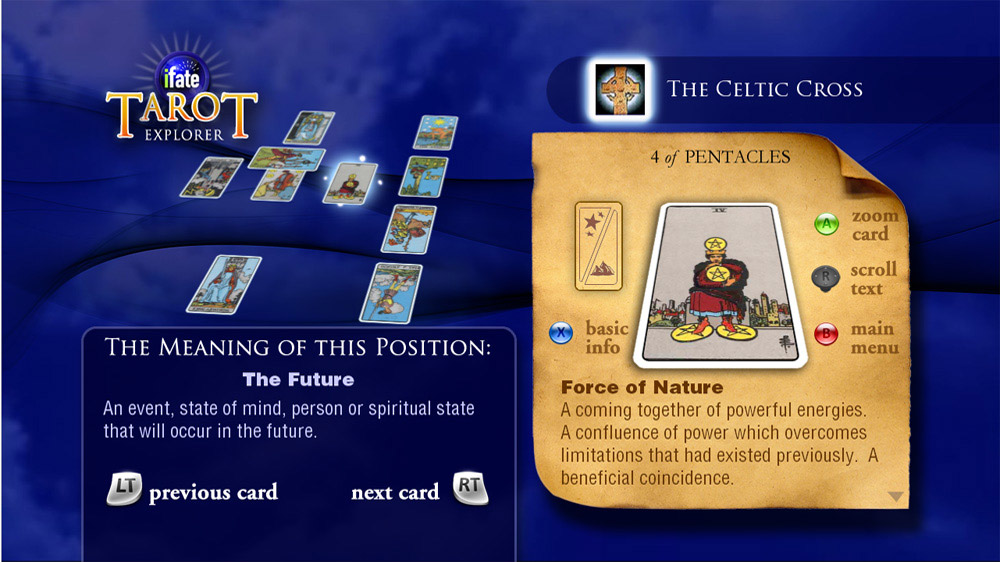 Image from iFate Tarot Explorer