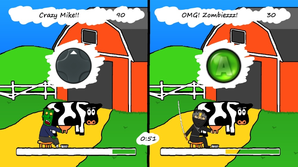 Image from Zombie Cow-Milking