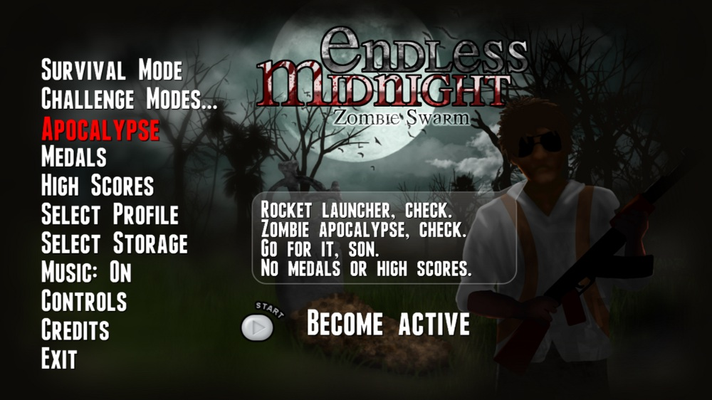 Image from Endless Midnight: Zombie Swarm