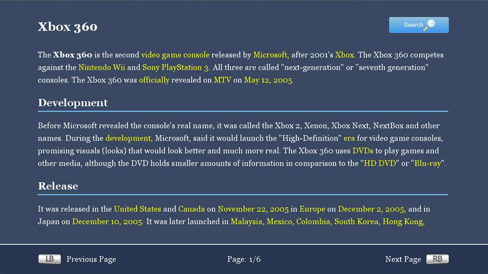 Image from Wiki Read: Wikipedia for Xbox