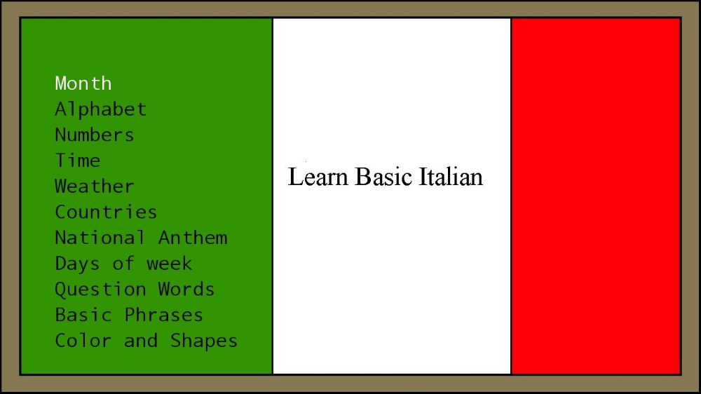 Image from Learn Basic Italian