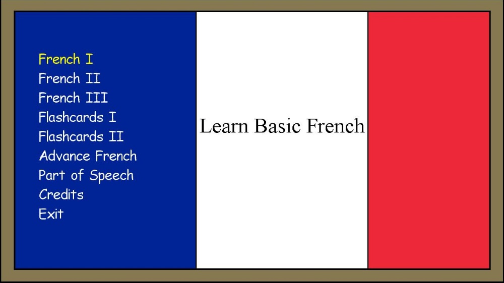Image from Learn Basic French